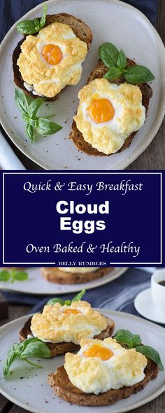 What are cloud eggs? They are the perfect light and fluffy breakfast egg dish. Baked and not fried which means they are healthier for you, and low in fat.