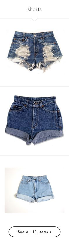 """""""shorts"""" by blessing2002 ❤ liked on Polyvore featuring shorts, bottoms, pants, short, destroyed shorts, ripped shorts, vintage ripped shorts, short shorts, distressed cut off shorts and cutoff jean shorts"""