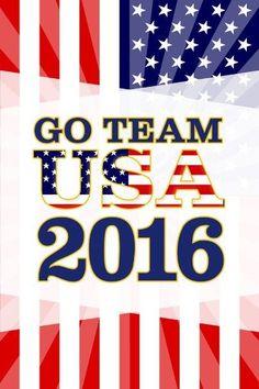 Rio De Janeiro Go Team USA 2016 Summer Games Brazil Colorburst Flag Stars And Stripes Poster 12x18