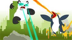 Avec le succès des super héros, j'adore l'illustration de Mark Mullaney mettant en scène Google Panda et Penguin côté à côté pour lutter contre les fraudeurs du Web !