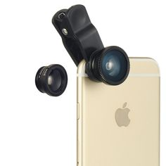 UNIVERSAL CLIP LENS can apply to any smartphones, even can be used on iPad, tablets, and Laptops or anywhere you can imagine. There are 3 lens available; FISH-EYE, MARCO, and WIDE ANGLE LENS - Macro l                                                                                                                                                     More