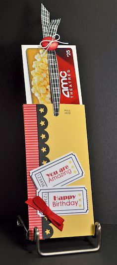 A ribbon pull gift card holder using Sweet 'n Sassy Ticket Sentiments