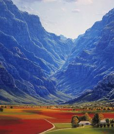 Hex River Valley, Western Cape. South Africa - I expect it doesn't look quite like this in reality.