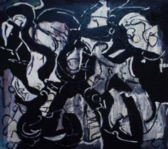'Winter In The City' - A winter mosaic by painter Max Marian Kalin. Dimensions: x Abstract Paintings, All Art, Online Art, Mosaic, Canvas, City, Winter, Artist, Black