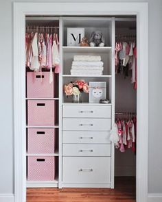 31 Kids and Nursery Closet Organization IdeasA sweet method to coordinate with the capacity genius nursery closet organizers is an ideal gift collection. As your child grows, you will require the. Baby Nursery Closet, Baby Bedroom, Closet Bedroom, Kids Bedroom, Bedroom Decor, Little Girl Closet, Kid Closet, Closet Ideas, Baby Girl Closet