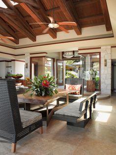 tropical - living room