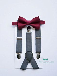 Boys Bow Tie Suspenders, Burgundy Wine Bow Tie, Rustic Wedding, Baby Boy Bow Tie, Ring Bearer, Cake Smash, Boys Clothes, Boys First Birthday