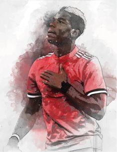 61 x Midfielder Paul Pogba on Museum-quality poster with vivid print made on thick and durable Manchester United, Paul Pogba, Football Wallpaper, Captain America, Spiderman, Blood, Etsy, Superhero, Trending Outfits