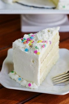 White Chocolate Birthday Cake by The Kitchen is My Playground plus 6 other SPRINKLE-LICIOUS desserts that you can't miss!