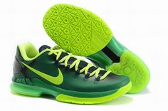 0839bd6e8c1b For Wholesale Nike KD V 585386 066 Basketball Shoes Black Green Volt