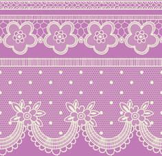 ornate lace border design vector set