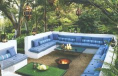 Moroccan inspired outdoor area...love
