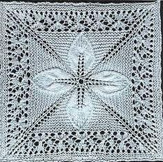 Ravelry: Quilt (Square Counterpane with Leaves) pattern by A.M.