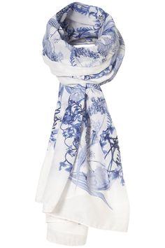 Topshop porcelain print scarf $36