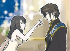 Squall and Rinoa Final Fantasy VIII #FFVIII seed graduation