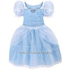 DISNEY STORE CINDERELLA COSTUME GIRLS SIZE 4  2012 NEW DESIGN