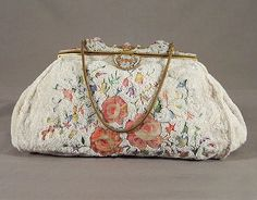 French beaded/embroidered evening bag, 1930s, from the Vintage Textile archives.