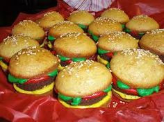 Image result for hamburger cupcakes