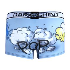 Men's Boxer Briefs-Pop powderblue, back メンズファッション アンダーウェア ボクサーパンツ #darkshiny #mensfashion #boxerbrief #underwear