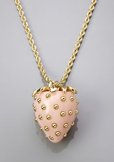 Kenneth Jay Lane strawberry necklace.