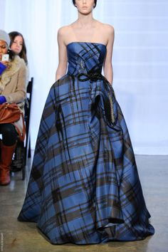 The Crinoline Period- Plaid gown- 1850-1870- Angel Sanchez F/W 2012