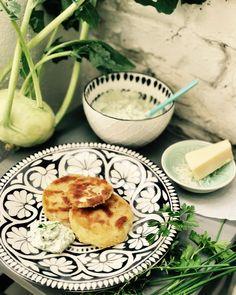 Kohlrabi Schnitzel mit Kräuter-Sauce! Gesund vegetarisch essen! Für Kinder und die Familie.
