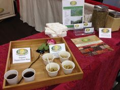 At the HQO booth we were sampling our organic quinoa with rosemary as well as our organic yerba mate.