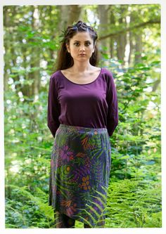 """""""Shadow"""" micromodal/spandex skirt – Woodland – GUDRUN SJÖDÉN – Webshop, mail order and boutiques 