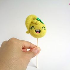 New Lollie flavor! Pineapple! 🍍🍍🍍🍍🍍🍍🍍🍍🍍🍍 This Lollie has a stylish side ponytail and off course a green polkadot finishes the look!Available in the shop!https://droolwool.zibbet.com/.....#droolwool #lolliepineapple #pineapplelollipop #cutelollipop #kawaiilollipop #handmadearttoy #designertoy #softsculpture #feltedlollipop #smileylollipop #kawaiiart #kawaiiarttoy #sweets #ponytail #yellowlollipop #polkadotbow #toycollector #kawaiicollector #foodarttoy #candyarttoy