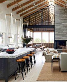 Most Modern Interior Design For Open Space in Your Home Modern lodge Modern Interior Design, Interior Design Inspiration, Interior Architecture, Design Ideas, Classic Interior, Contemporary Interior, Modern Decor, Open Space Living, Living Spaces