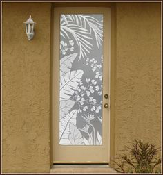 Tropical Oasis Etched Glass Privacy.