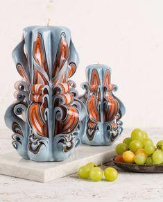 [新品] カービング キャンドル 夏 | carving candle | Big|キャンドル|ハンドメイド通販・販売のCreema Candle Art, Candle Magic, Fancy Candles, Beautiful Candles, Creema, Special Gifts, Hand Carved, Diy And Crafts, Candle Holders