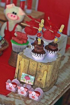 Three Little Pigs birthday party! See more party planning ideas at CatchMyParty.com!