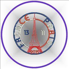 MOTIF BRODERIE PARIS 2015  1.10€