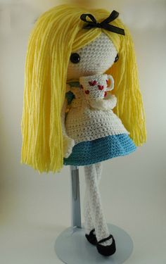 Alice  Amigurumi Doll Crochet Pattern PDF by CarmenRent on Etsy ♡ lovely doll