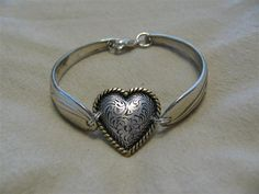 Jewelry Made Out Of Silverware | Spoon jewelry are made out of silver plated silverware. Custom bent ...