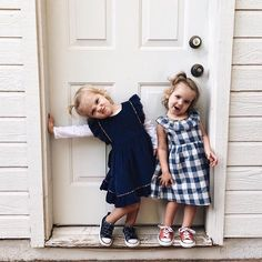 Thank you for this capture of your girls in their {Jewel} dress and {Marine Penny} // vintage inspired pinafore with floral accent // buffalo check dress with Liberty of London accent and ruffle collar Baby Baby Baby Oh, Baby Fever, Baby Kids, Cute Kids, Cute Babies, Toddler Fashion, Kids Fashion, Twin Girls, Children And Family