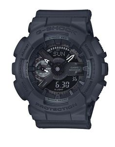G-Shock S Series Stainless Steel and Resin Strap Watch Women's Gunmeta