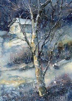 Snowfall Greeting Card by Virginia Potter