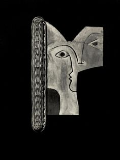 """"""" Lovers """" Tête  de Femme   (1950)  by  Pablo Picasso"""
