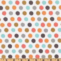Just in, CORAL Spa Dots , Michael Miller Fabrics 1 yd total. $10.00, via Etsy.