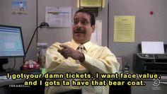 Workaholics Bear Coat Quotes