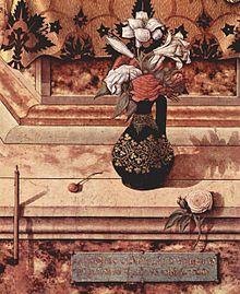 Polittico del Duomo di Camerino - Dettaglio della Madonna della Candeletta - Carlo Crivelli