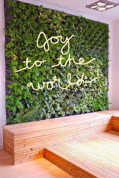 """Adding lit graphics to the green wall--excuse the """"Paint tool"""" freehand lettering..."""