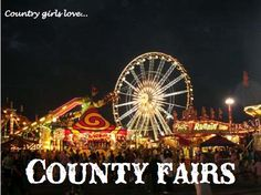 County fairs quotes sky night park fun girls country