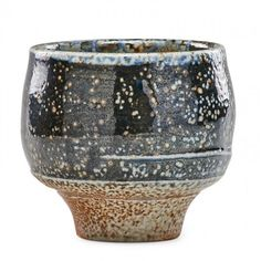 "HANS COPER Early salt-glazed stoneware tea bowl, England, 1950s; Impressed HC chop mark; 3 1/2"" x 3 3/4"""