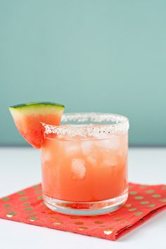 Cool off this summer with this refreshing Watermelon Margarita drink recipe.   Great for the whole party!