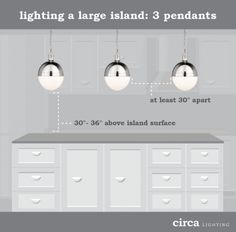 How High Should A Pendant Style Light Hang Over A Kitchen Island - Lights to hang over kitchen island