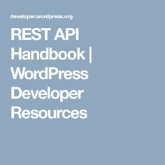 The WordPress REST API provides an interface for applications to interact with your WordPress site by sending and receiving data as JSON…