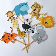 Jungle Safari Party Goodie Boxes Set of 12 by PaperPartyParade, $12.00